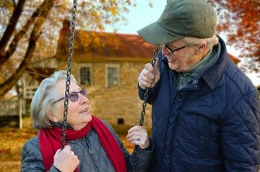 happy aging couple